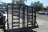24ft Heavy Duty Equipment Utility Trailer with Mesh Sides image 1 image 2 image 3 image 4 image 5