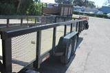 24ft Heavy Duty Equipment Utility Trailer with Mesh Sides image 1 image 2 image 3 image 4 image 5 image 6 image 7 image 8