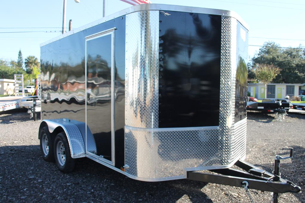 12ft Enclosed Cargo Trailer with Side Flow Vents image 1