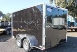 12ft Enclosed Cargo Trailer with Side Flow Vents image 1 image 2 image 3