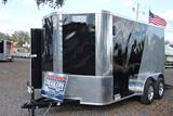12ft V Nose Motorcycle Trailer with Torsion Axles image 1 image 2