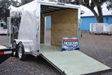 12ft V Nose Motorcycle Trailer with Torsion Axles image 1 image 2 image 3 image 4 image 5