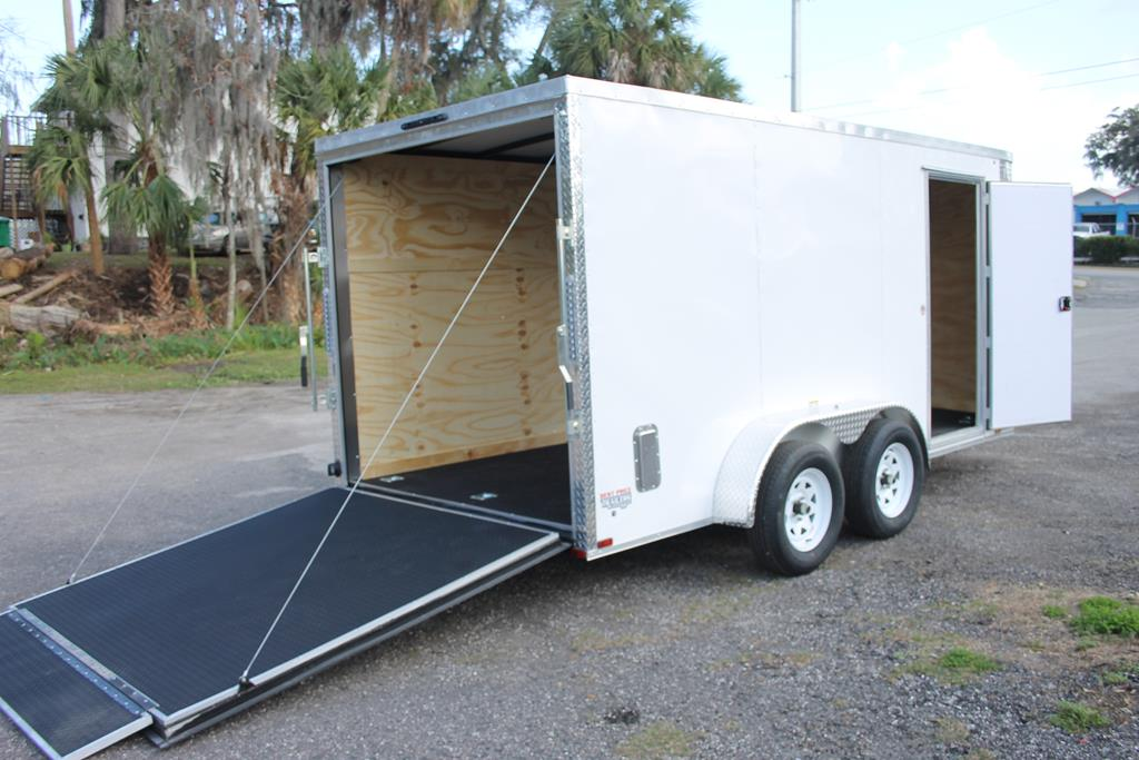 14ft Custom Cargo Trailer with Rounded V Nose image 1