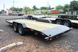 20ft Open Car Hauler with Slide In Ramps image 1 image 2 image 3 image 4