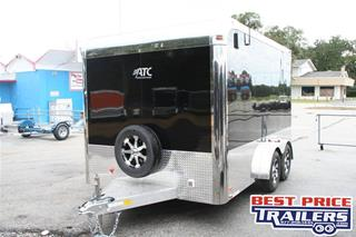 ATC  7.5x12' Enclosed Aluminum T/A Motorcycle Trailer