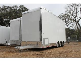 Stacker Trailer with Cabinets and Wardrobe