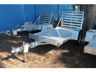 Aluminum Utility Trailer with Rear Ramp Gate