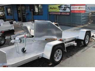 Aluminum Motorcycle Trailer with Rock Guard