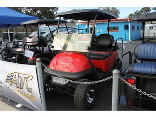 Golf Cart with Flip Rear Seat