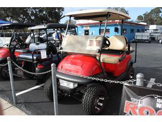Electric Golf Cart with OEM Buff Seat Cover