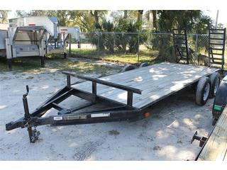 Equipment Trailer with Stand Up Ramps