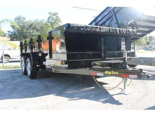 Dump Trailer with Slide In Ramps