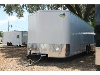 Car Trailer with Rear Ramp Door