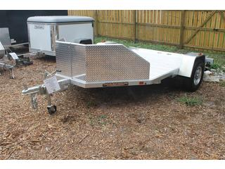 Motorcycle Trailer with Rock Guard