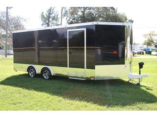 trailer for sale Pre Owned  InTech  Aluminum Enclosed Motorcycle Trailer