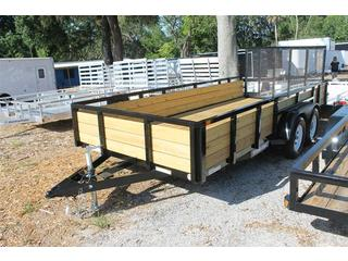 Utility Trailer with Wood Sides