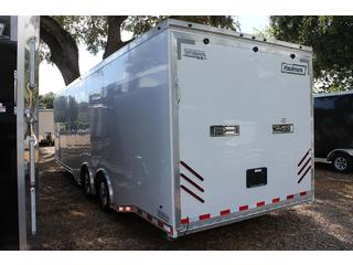Car Hauler with Cabinets and Generator Compartment