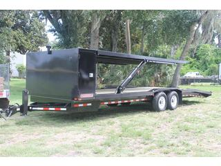 Equipment Trailer with Adjustable Deck