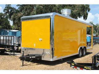 Concession Trailer with BBQ Platform
