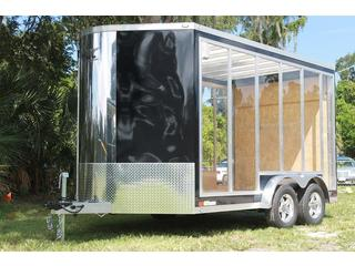 Clear Trailer with Rear Ramp