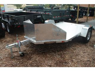 Motorcycle Trailer with Stone Guard
