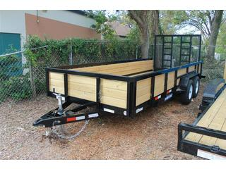 Equipment Trailer with Heavy Duty Gate