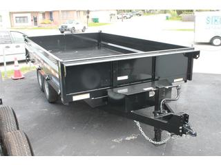 Dump Trailer with Fold Down Sides