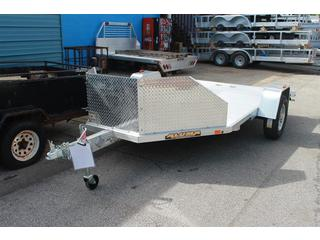 Motorcycle Trailer with Tie Downs
