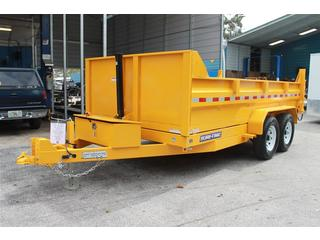 Dump Trailer with Yellow Finish