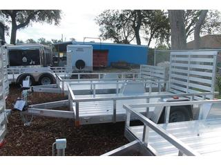 Utility Trailer with Removable Ramps