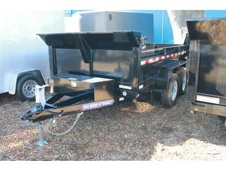 Dump Trailer with Combination Door