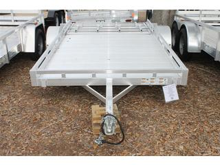 Utility Trailer with Fold Flat Rear Ramp