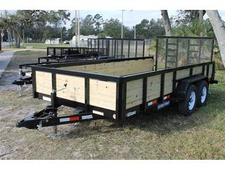 Utility Trailer with Landscape Gate