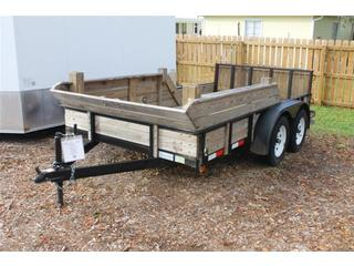 Utility Trailer with Bi Fold Tailgate