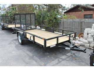 Utility Trailer with LED Lights