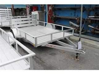 Utility Trailer with Bi-Fold Ramp Gate