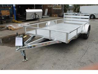 Utility Trailer with Bi-Fold Ramps