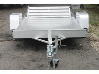 Utility Trailer with Bi-Fold Ramp