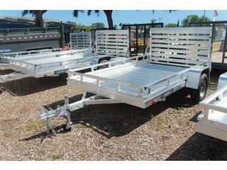 Utility Trailer with Aluminum Ramp