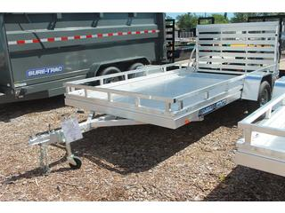 Utility Trailer with Front and Side Rails