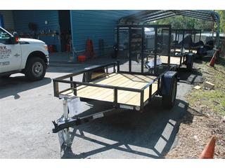 Landscape Trailer with Fold Flat Ramp