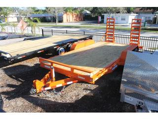 Equipment Trailer with Spring Assisted Ramps