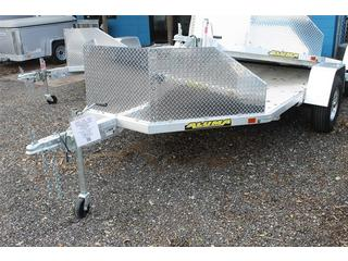 Aluminum Motorcycle Trailer with Ramp