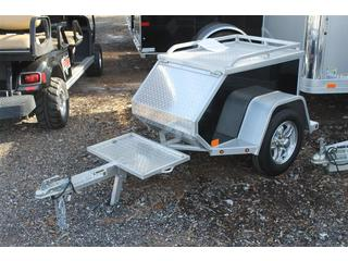 Motorcycle Trailer with Lockable Lid