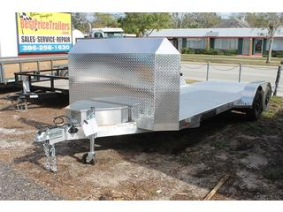 Construction Trailer with Removable Fenders