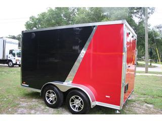 2012 Bravo Enclosed T/A Motorcycle Trailer