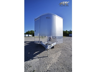 2012 ATC Enclosed Aluminum T/A Clear Motorcycle Trailer