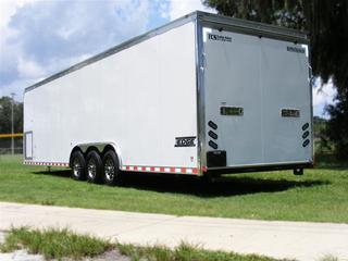 2013 HaulmarkEnclosed Steel Carhauler Trailer