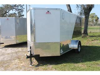 Motorcycle Trailer with Rear Ramp Door
