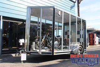 Clear Trailer with Rear Ramp Door